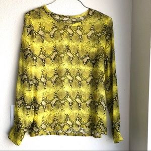 🆕Equipment Silk Printed Sheer Long Sleeve Blouse
